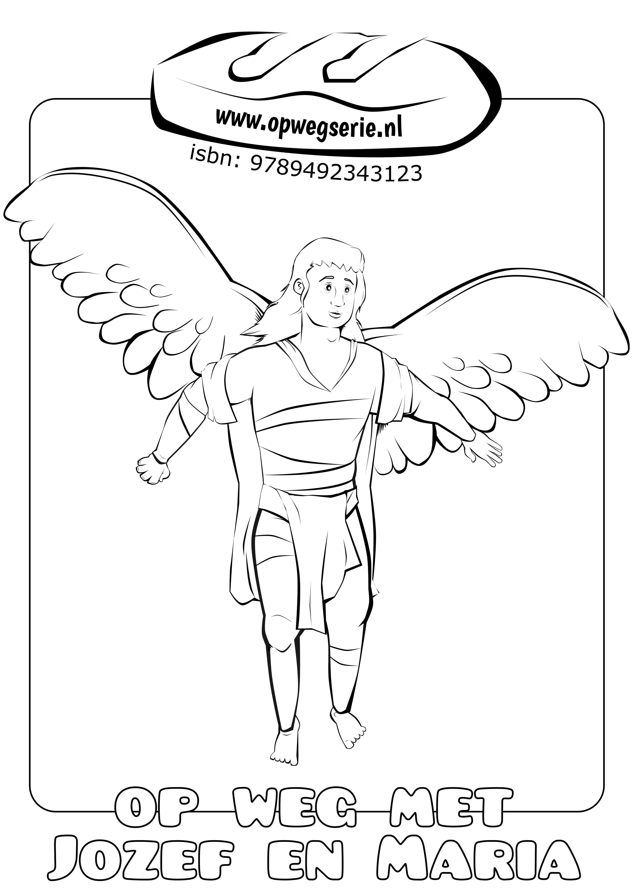 warnae05 engel kleurplaat vleugels